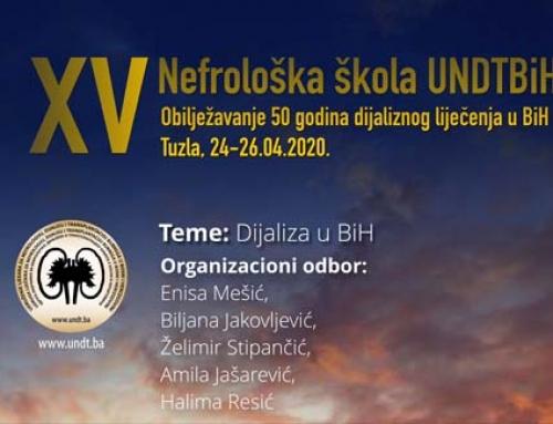 UNDTBiH – XV Nefrološka škola: Obilježavanje 50 godina dijaliznog liječenja u Bosni i Hercegovini Tuzla, 05-07.03.2021.