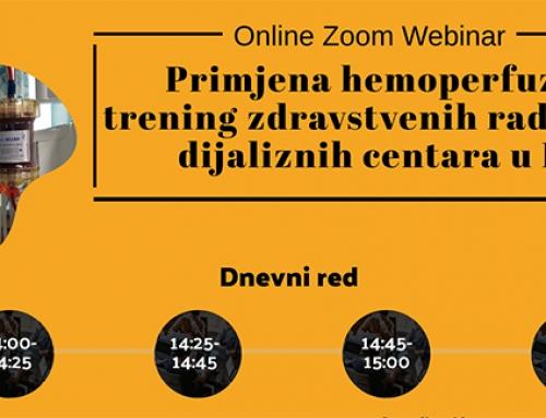 Online Zoom webinar: Primjena hemoperfuzora: trening zdravstvenih radnika dijaliznih centara u FBiH