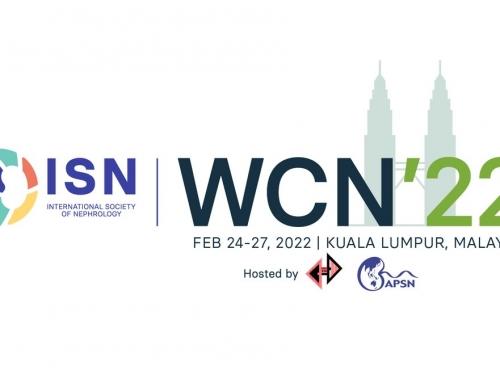 Svjetski kongres nefrologije (WCN) će se održati u Kuala Lumpuru u Maleziji od 24. do 27. februara 2022.